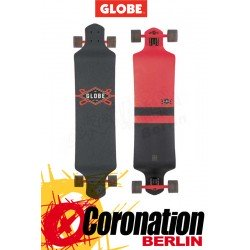 Globe Geminon Drop Down Longboard komplett - red/black