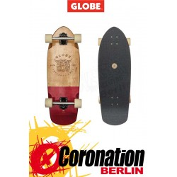 Globe Stubby Longboard half dip natural red