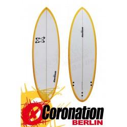 Fusion Hybrid Surfboard 5'8 Orange