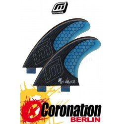 Madness Lateral LHC FX2 Finnen 2er-Set Carbon Blue