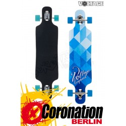 Voltage DT blue/white Longboard complete
