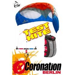 HQ APEX 4 TEST Kite 8m² Depowerkite complète avec barrere