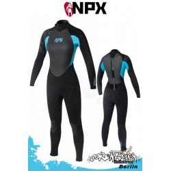 NPX Frauen Neoprenanzug Vamp SD 5/4/3 GBL - Schwarz/Turquoi