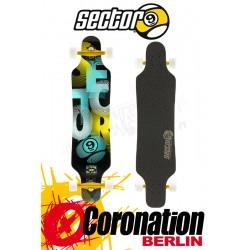 Sector 9 Mini shaka 15 Longboard complète Blue