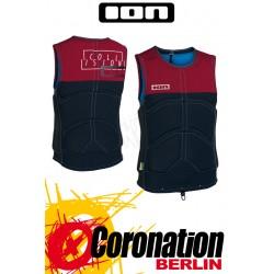 ION Collision Vest Prallschutzweste red melange/black