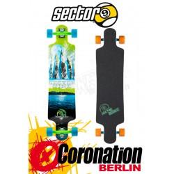Sector 9 Faultline Longboard Komplett Green