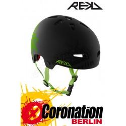 REKD Elite Icon Black/vert Helm
