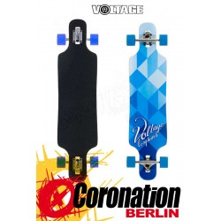 Voltage DT Blue/White Longboard Deck