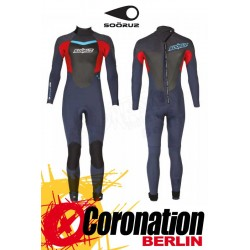 Soöruz Fighter 2016 Fullsuit 4/3 LS Backzip Neoprenanzug Blue