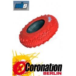 MBS Landboard T3 8'' pneu rouge - 4er Satz