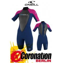 O'Neill Reactor Spring 2mm Shorty Frauen Neoprenanzug NVY/PUNKPNK