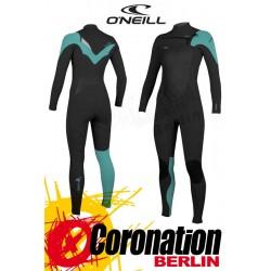 O'Neill Superfreak FZ 5/4 Frauen Neoprenanzug 2016 Black/Aqua
