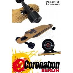 Paradise Brown Palms Drop Thru Komplett Longboard