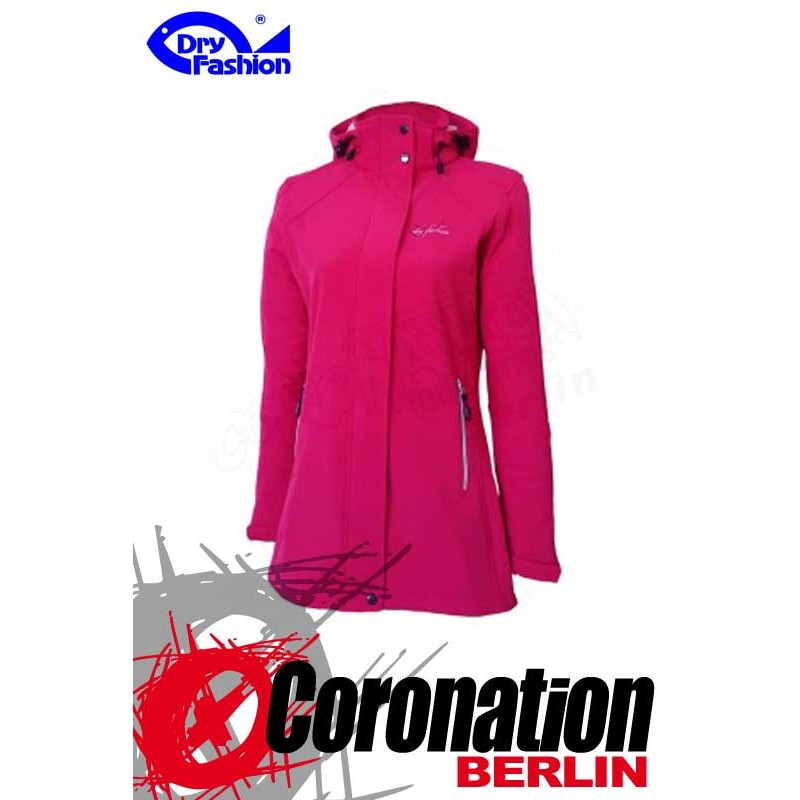 Dry Fashion Damen Softshell Jacke Sylt Sangria