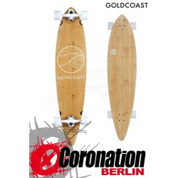 GoldCoast Classic Bamboo Pintail Longboard complete