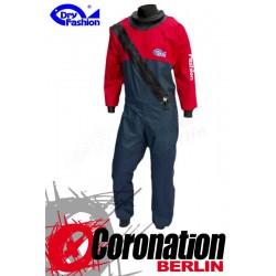 Dry Fashion Trockenanzug Sailing Standard PVC - Weiss/Navy/Rot