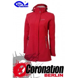 Dry Fashion Damen Softshell Jacke Sylt Rot