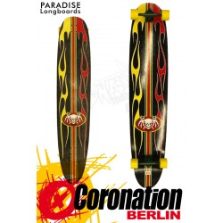 Paradise Longboard Rasta Hot Rod Kicktail 140cm Cruiser Dancer