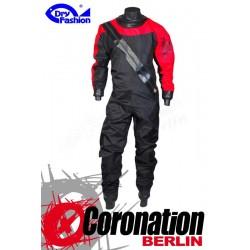 Dry Fashion Trockenanzug Sailing Standard Nylon - Schwarz/Rot