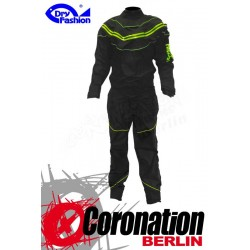 Dry Fashion Black Performance Trockenanzug noir/Neon vert