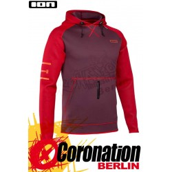 ION Neo Hoody light Red Neopren Pullover mit Kapuze