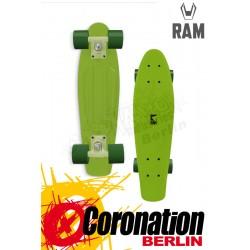 """RAM Mini Cruiser 22"""" Limettengrün Komplett Longboard"""