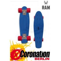 "RAM Mini Cruiser 22"" Peke Blau Komplett Longboard"