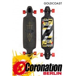 GoldCoast Serpentagram Drop Through Black Longboard