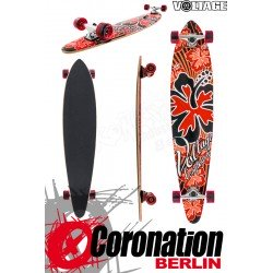 Voltage Longboard Pintail Cruiser - Red
