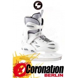 SFR ECLIPSE Schlittschuh adjustable ICE SKATES white/silver
