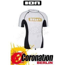 ION Rashguard Men SS white/grey