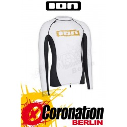 ION Rashguard Men LS white/grey