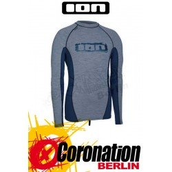 ION Rashguard Men LS grey melange/steelblue