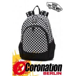 Vans Van Doren Schul & Street Rucksack Sport & Freizeit Backpack noir-blanc Karo