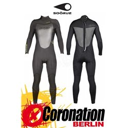 Soöruz Fighter 2016 Fullsuit 5/4/3 Backzip Neoprenanzug Black
