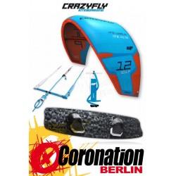 CrazyFly Sculp Blue 12m² & Raptor LTD 2017 Kite + Board + Bar komplett Set