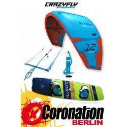 CrazyFly Sculp Blue 12m² & Allround 2017 Kite + Board + Bar komplett Set