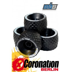 MBS All Terrain Longboard Wheels 4er Set Black
