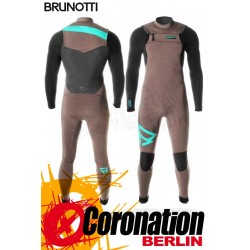 Brunotti Bravery 5/3 D/L Neoprenanzug Frontzip Full Wetsuit Brown