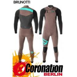 Brunotti Bravery 5/3 D/L Neoprenanzug Frontzip Full Wetsuit Brown