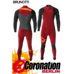 Brunotti Bravery 5/3 D/L Neoprenanzug Frontzip Full Wetsuit Dark Red