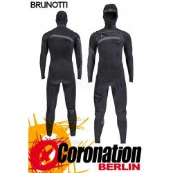 Brunotti Bravo 6/4 Hooded Frontzip Neoprenanzug Full Wetsuit Black