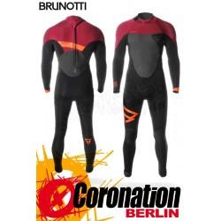 Brunotti Defence 5/3 D/L Backzip Neoprenanzug Full Wetsuit Black-Red