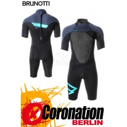 Brunotti Defence Shorty 3/2 Backzip Neopren Shorty Wetsuit Black-Mint