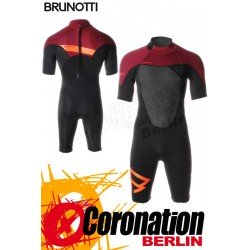 Brunotti Defence Shorty 3/2 Backzip Neopren Shorty Wetsuit Black-Red