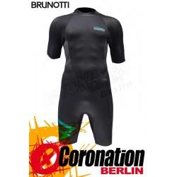 Brunotti Jibe Shorty 2/2 Backzip Neopren Shorty Wetsuit Black-Mint