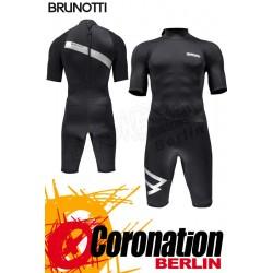 Brunotti Jibe Shorty 2/2 Backzip Neopren Shorty Wetsuit Black-Silver
