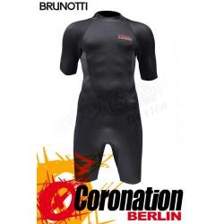 Brunotti Jibe Shorty 2/2 Backzip Neopren Shorty Wetsuit Black-Red