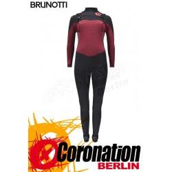 Brunotti Xena 5/3 Frontzip Frauen Neopren Wetsuit Dark Red