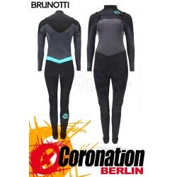 Brunotti Xena 5/3 Frontzip Frauen Neopren Wetsuit Black-Mint